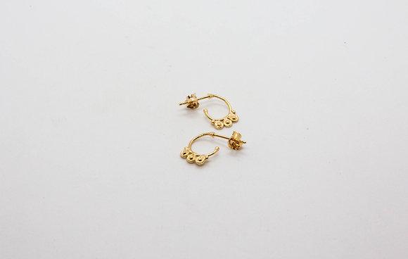 the boho society - bijoux de createur - boucles d'oreilles - boucles d'oreilles en plaqué or