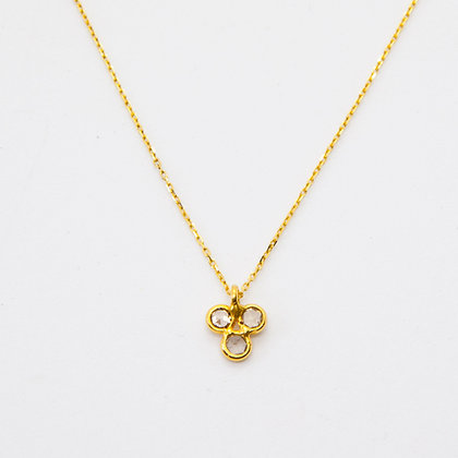 Shanti Collier Or 18 carats Diamant | Gold necklace 18K rose cut diamonds