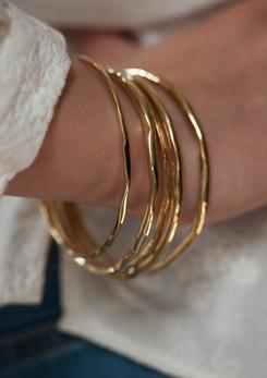 wavy set de 5 bracelets plaque or - bijo