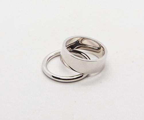 Elvis | Bague double anneau en argent 925