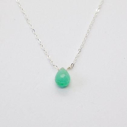 Calliste collier argent Emeraude | Calliste necklace