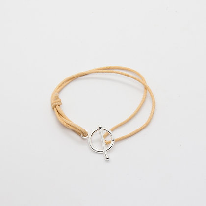 Bracelet fermoir T argent | Silver bracelet