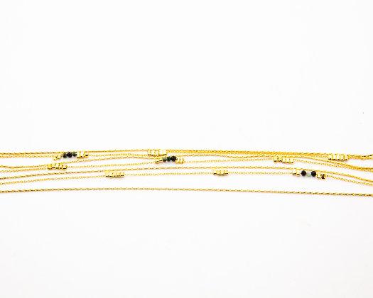 bracelet fin plaque or - laure Mory - bijoux createur - bijoux boheme - the boho society