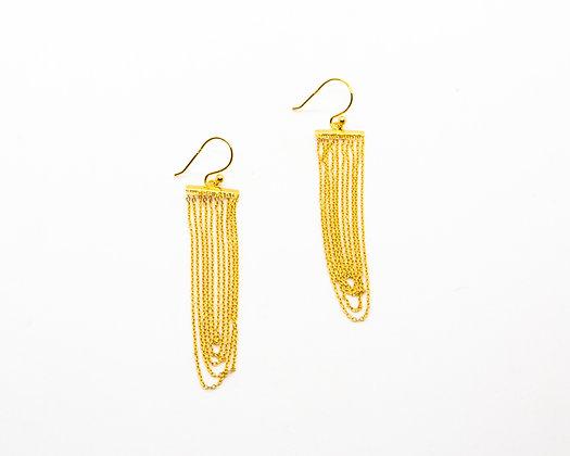 boucles oreilles pendantes plaque or  - bijoux créateur canyon - boho chic - the boho society