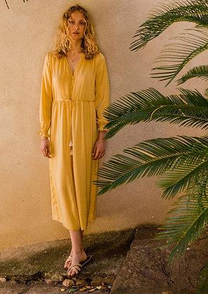 Robe chally lemon - tenue boheme chic femme- Louise Misha - the boho society