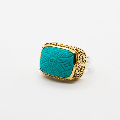 Dina bague argent turquoise | Dina silver ring turquoise