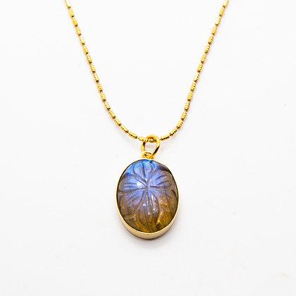 India collier Labradorite | Labradorit necklace