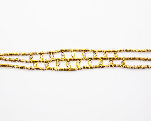 Bracelet perles argent et diamants - bracelet boheme - bijoux bohème - bijoux createur - bijoux boho - the boho society