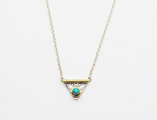 Collier de createur argent et turquoise - collier de createur boheme chic - the boho society