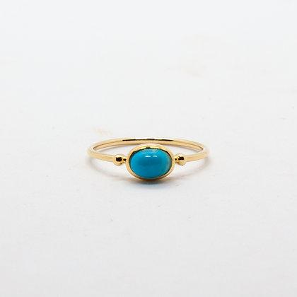 Ella bague or 14K et turquoise | Ella gold 14K & turquoise