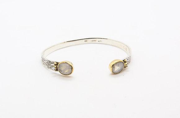 Idaho   Bracelet pierre de lune  en argent