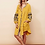 The boho society - robe kaftan brodée jaune safran - boho chic
