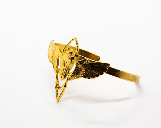 bracelet jonc scarabee lotta djossou - bijoux createur - bijoux boheme - boho chic - the boho society