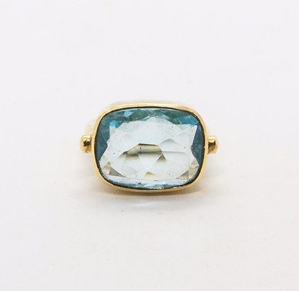 bague topaze - pierre bleue - bague pierre semi precieuse - bijoux boheme - the boho society