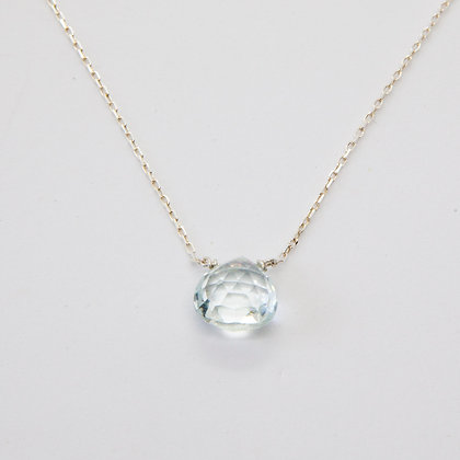 Calliste collier argent Aigue marine | Calliste necklace