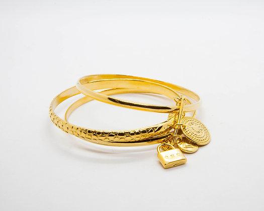 bracelet semainier laiton plaque or a pampilles - bracelet createur boheme - bracelet shabada- the boho society