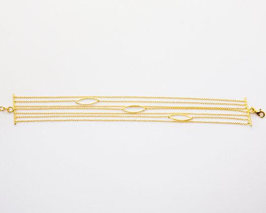 Elios | Bracelet de createur en plaque or 24K