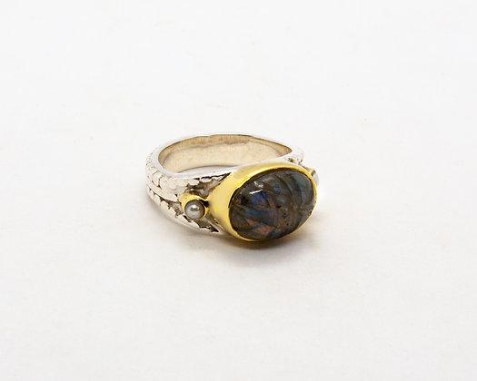 bague argent scarab - bague labradorite- bague canyon - bijoux boheme - bijoux createur - the boho society