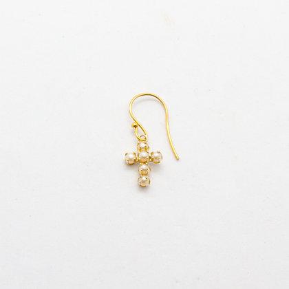 Adrian | Mono boucle d'oreille croix or 14 carats