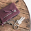 The boho society - Porte monnaie en cuir WALCOTT bordeaux - WALCOTT leather wallet bordeaux by Shine blossom