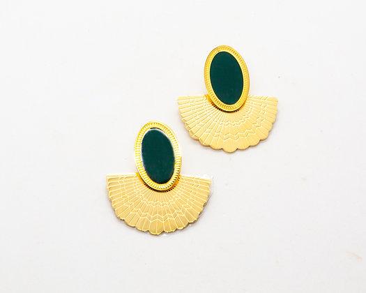 boucles d oreilles dore- bijoux bohème - bijoux createur - bijoux boho - the boho society