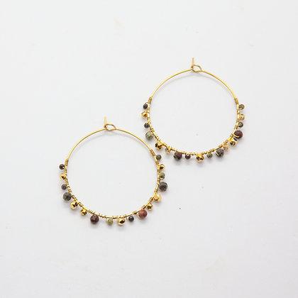 Jolly | Boucles d'oreilles créoles Tourmaline