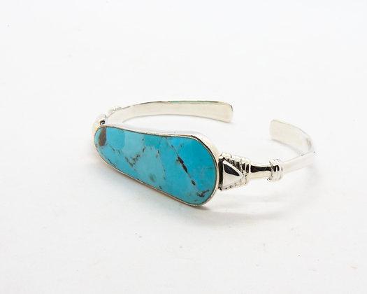 Winona | Bracelet turquoise ethnique en argent 925