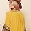 The boho society - robe kaftan brodée jaune safran - hippie chic