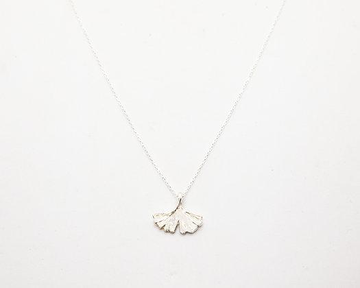 collier femme argent -ginkgo - collier ras de cou argent - bijoux créateur - the boho society