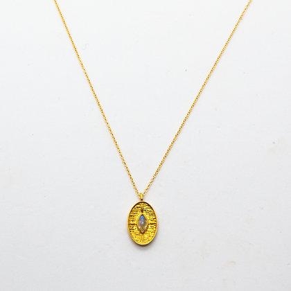 Sierra | Collier de créateur en plaqué or et labradorite