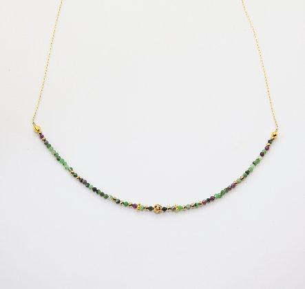 Kira - Collier Rubis zoisite   Kira necklace