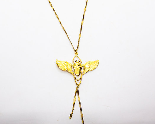 collier scarabee lotta djossou - bijoux createur - bijoux boheme - boho chic - the boho society