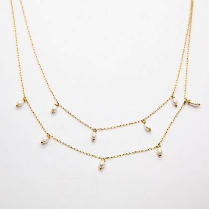 Collier double rang Tori | Tori double layer necklace