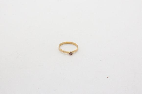 thebohosociety-bague de créateur-bijou fait main-bague plaqué or avec pierre semi précieuse rose-bijou-emma cargill