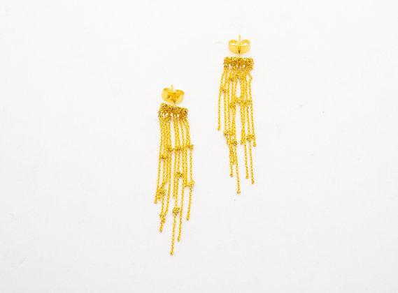 Boucles d'oreilles plaqué or fantaisie- boucles d'oreilles créateur - laure mory - the boho society