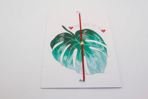 Boho society–carte cadeau pas cher–carte cadeau bijou–cadeau bracelet cordon– carte amour-carte je t'aime bijou