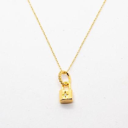 Padlock | Collier cadenas en plaqué or