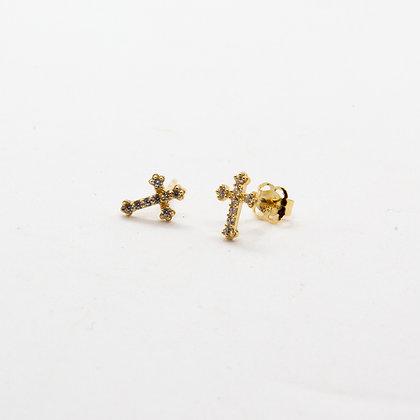 Leo - Boucles d'oreilles or 14 carats | Leo 14K gold  studs