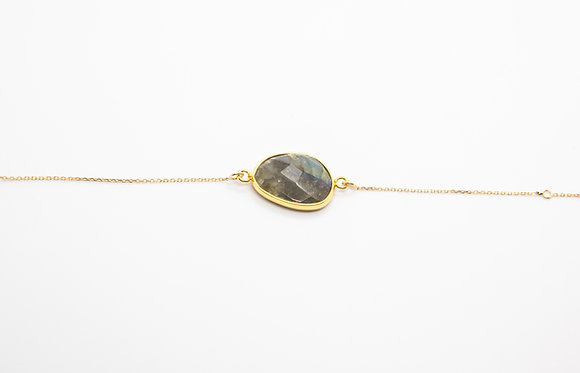 bracelet boheme plaqué or et pierre fine- bracelet fantaisie - bijou de createur -  the boho society
