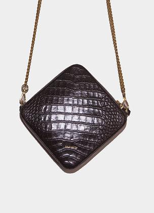 The boho society-sac en cuir noir-chaine doree-haute maroquinerie-paris 64