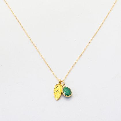 Amine | Collier de créateur en plaqué or et silimanite