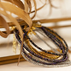 bracelet pyrite - bracelet pierre de lun