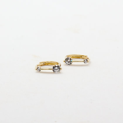 Kara mini creoles or 9 carats | Kara mini gold hoops 9k