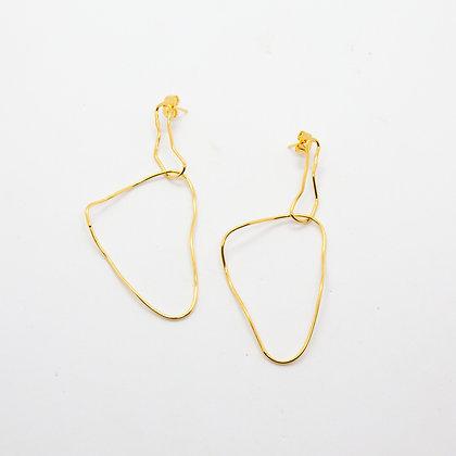 Deny | Boucles d'oreilles de créateur dorées à l'or fin 24K