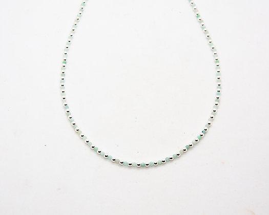 collier perles argent et calcedoine - collier boheme - bijoux bohème - bijoux createur - bijoux boho - the boho society
