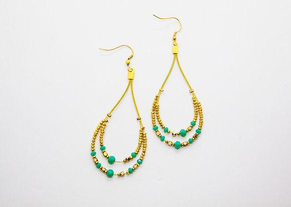 boucles oreilles boheme- boucles oreilles pendantes turquoise créateur - nataraj - the boho society