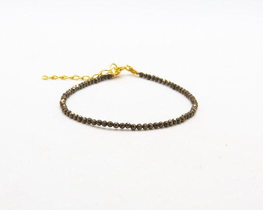 bracelet femme - bracelet perle - bracelet pyrite - the boho society