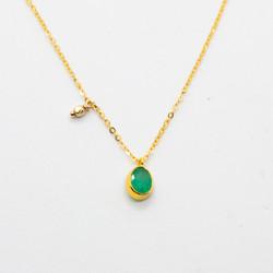 collier en or 14 carats et tourmaline -