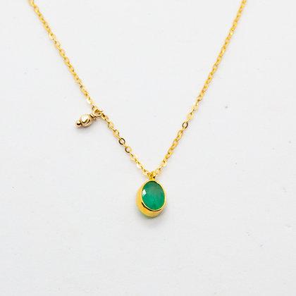 Tamara collier Or & tourmaline verte | Tamara gold necklace & green tourmaline