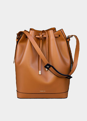 The boho society-sac en cuir marron-sac sceau-bucket bag-haute maroquinerie-paris 64